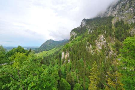 ridges: Montagna e creste a Schwangau, Germania