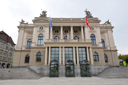 Facade of Zurich Opera House in Switzerland