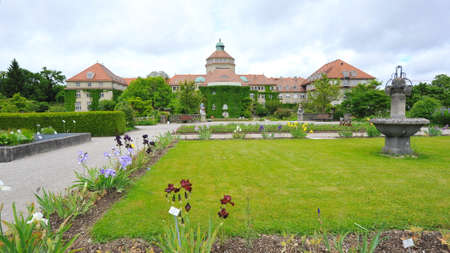 botanic: Munich Botanic Garden in Germany Stock Photo