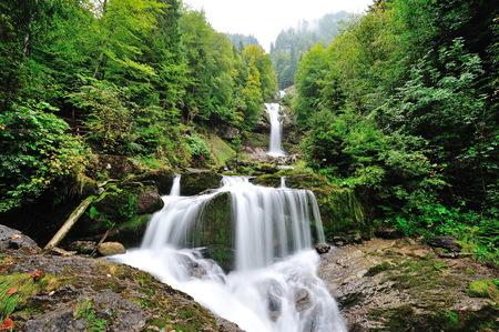 Beautiful Giessbach Falls in Brienz, Switzerland