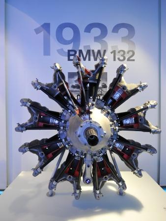 MUNICH - JUNE 8: BMW 132 radial engine on display in BMW Museum on June 8, 2013 in Munich