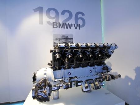 8 12: MUNICH - JUNE 8: 12 cylinders BMW VI engine on display in BMW Museum on June 8, 2013 in Munich Editorial