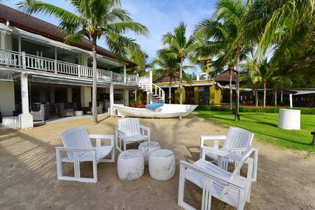alfresco: Alfresco dining area at a beach side resort in Krabi Editorial