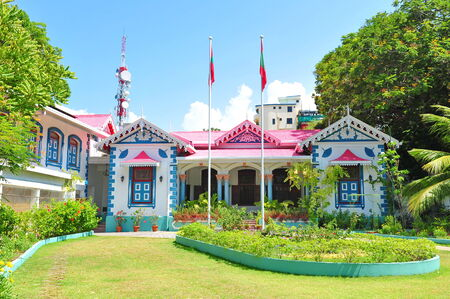 Muliaage, the official residence of the presidents of the Maldives Stock Photo