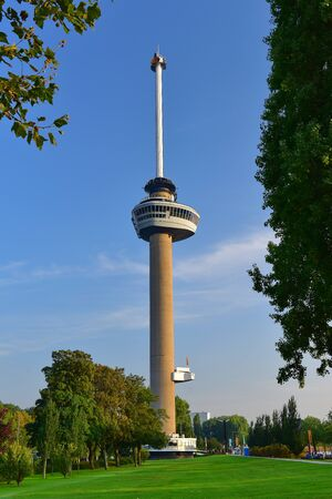 floriade: ROTTERDAM - SEPTEMBER 17:  Euromast observation tower built specially for the 1960 Floriade, taken on September 17, 2014 in Rotterdam, Netherlands