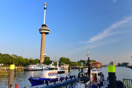 hugh: ROTTERDAM - SEPTEMBER 17:  Euromast observation tower built specially for the 1960 Floriade, taken on September 17, 2014 in Rotterdam, Netherlands