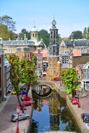 minature: HAGUE - SEPTEMBER 19: , taken on September 19, 2014 in Hague, Netherlands Editorial