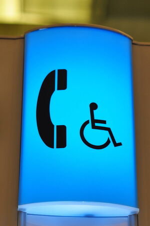 displaying: Icon displaying telephone booth for handicap