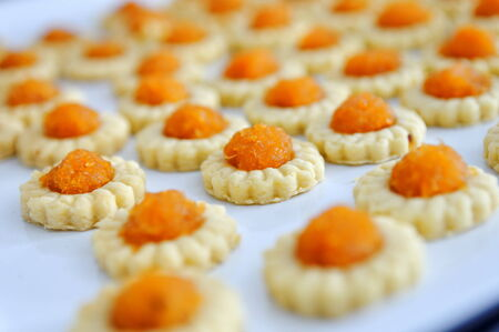 delicacy: Freshly baked homemade pineapple tarts. A popular Chinese New Year delicacy
