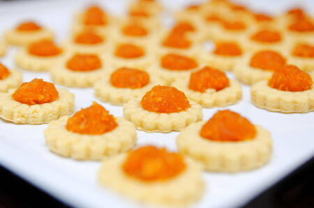 Freshly baked homemade pineapple tarts. A popular Chinese New Year delicacy
