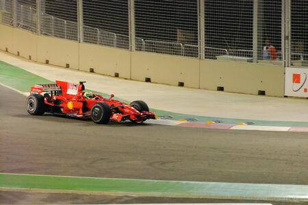 massa: SINGAPORE - SEPTEMBER 26: Felipe Massa cornering in his Ferrari during first Formula One night race September 26, 2008 in Singapore