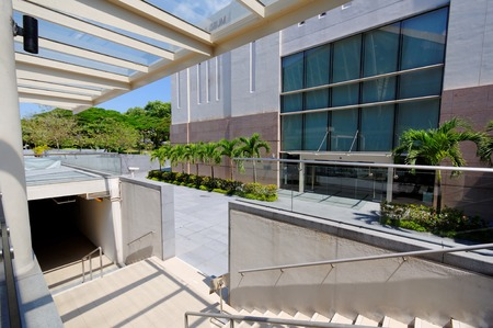 nus: Staircase leading to National University of Singapore Museum