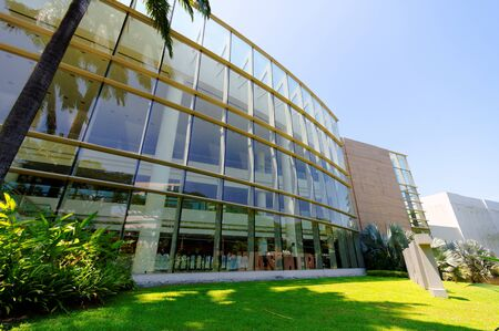 nus: Facade of University Cultural Center in National University of Singapore (NUS) Editorial