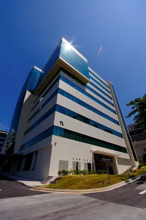nus: Newly constructed Engineering building in National University of Singapore (NUS)