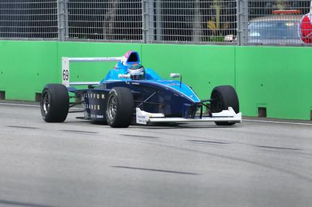 richard: SINGAPORE - SEPTEMBER 26: Richard Bradley racing at the 2010 Formula BMW Pacific championship race September 26, 2010 in Singapore Editorial