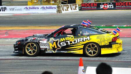SINGAPORE - JUNE 12: Mai parading the circuit during Formula Drift Singapore 2011 on June 12, 2011 in Singapore.