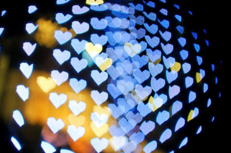 corazones azules: Serie de Bokeh - corazones azules Foto de archivo