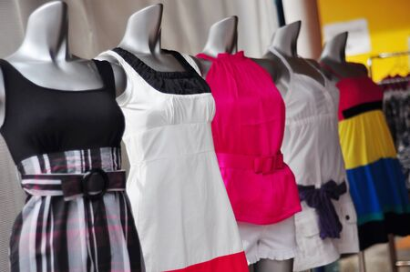 Vibrant ladys wear on mannequins