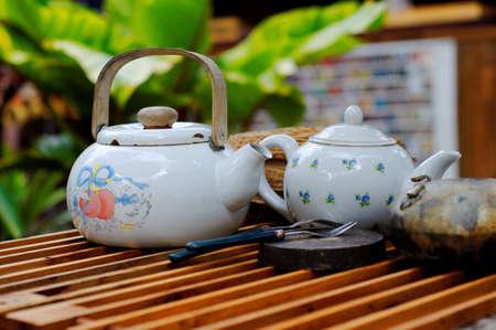 beverage display: Outdoor tea session