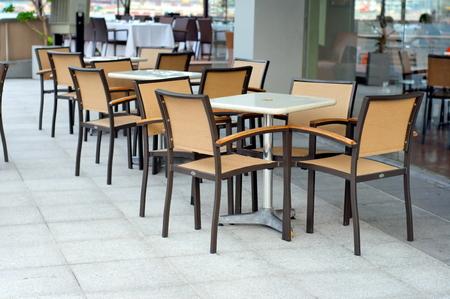 alfresco: Outdoor dining area beside a restaurant