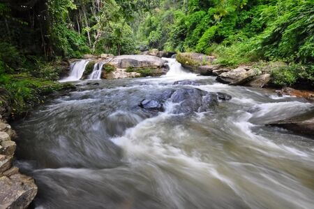 doi: Wachiratarn rapids in Doi Inthanon National Park, Thailand