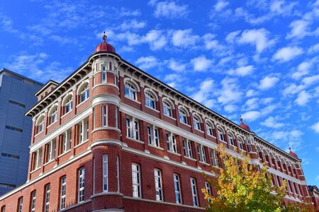 Historic building made of red bricks in Perth, Western Australia Stock Photo
