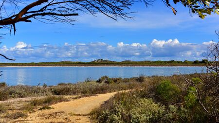 bank western: Bank of Lake Thetis in Western Australia Stock Photo