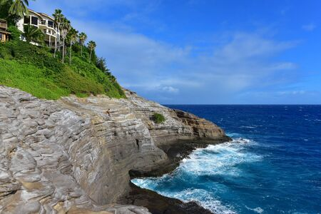 spitting: Spitting Cave of Portlock in Oahu, Hawaii Stock Photo