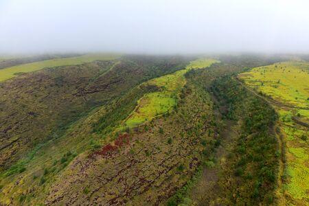 Aerial view of Waimea Canyon Grand Canyon of Pacific, Kauai Island, Hawaii Imagens