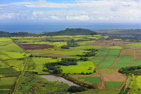 kauai: Aerial view of west coast of Kauai Island, Hawaii