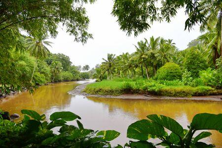 kauai: Famous Lawai stream in Allerton Garden, Kauai, Hawaii