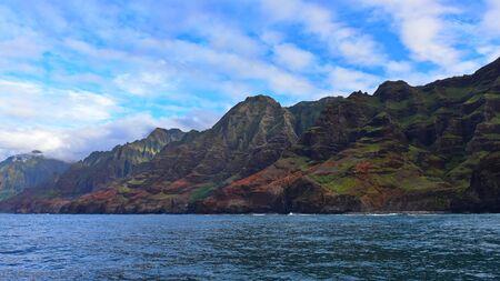 na: Magnificent Na Pali Coast of Kauai Island, Hawaii Stock Photo