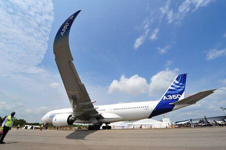 msn: SINGAPORE - FEBRUARY 12: Airbus A350-900 XWB at Singapore Airshow February 12, 2014 in Singapore