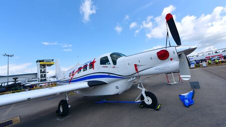 turboprop: SINGAPORE - FEBRUARY 16:  at Singapore Airshow February 16, 2016 in Singapore
