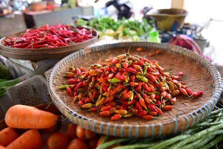 padi: Chili padi on sale in a market Editorial