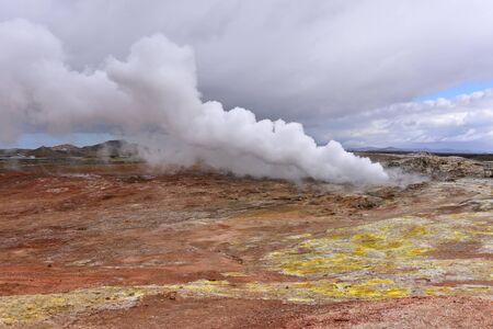 vents: Gunnuhver hot spring and steam vents in Reykjanes, Iceland