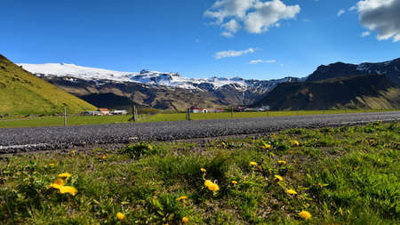 erupt: Eyjafjallajökull, a volcano that erupted in 2010 and caused huge disruption to aviation, Iceland Stock Photo