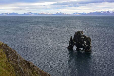 metres: Hvitserkur, a 15 metres basalt stack in northwest Iceland