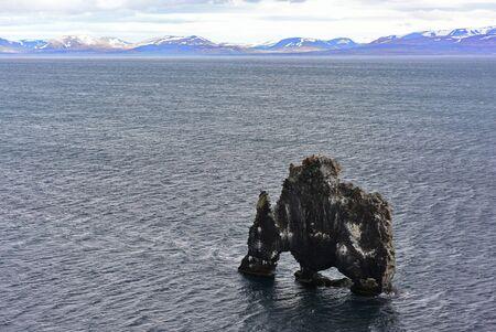labourer: Hvitserkur, a 15 metres basalt stack in northwest Iceland