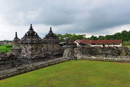 Candi Plaosan, a historic buddhist temple in Java, Indonesia