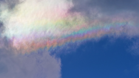 diffraction: Cloud iridescence seen above Iceland