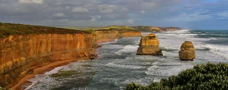 Famous Twelve Apostles limestone stack formations in Victoria, Australia Stock Photo