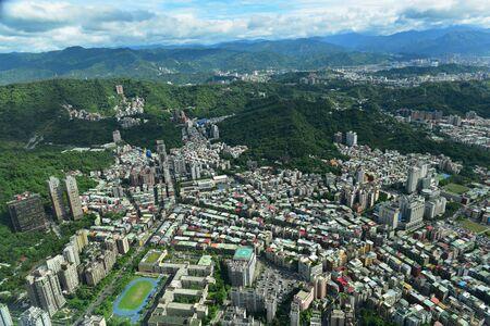 Aerial view of the city of Taipei, Taiwan Stock Photo
