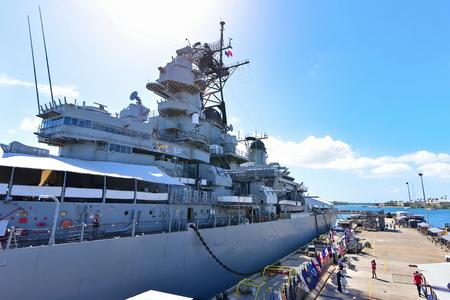 pearl habor: OAHU - NOVEMBER 19: Onboard USS Missouri, a historic world war 2 battleship on November 19, 2015 in Honolulu, United States of America