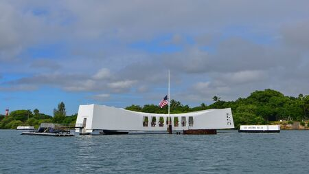 pearl habor: OAHU - NOVEMBER 19: World War 2 Valor in the Pacific National Monument on November 19, 2015 in Honolulu, United States of America Editorial