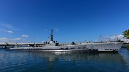 pearl habor: OAHU - NOVEMBER 19: USS Bowfin submarine museum at Pearl Habor on November 19, 2015 in Honolulu, United States of America Editorial
