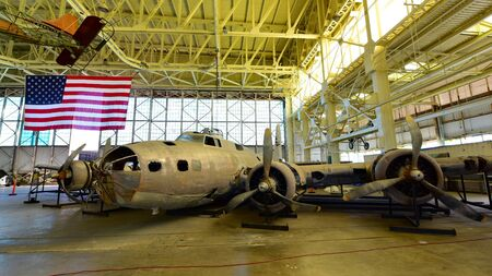 pearl habor: OAHU - NOVEMBER 19: Boeing B-17E Flying Fortress Bomber Swamp Ghost on display at Pearl Habor Pacific Aviation Museum on November 19, 2015 in Honolulu, United States of America Editorial
