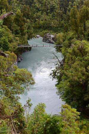 Scenic Hokitika Gorge with its signature turquoise river in West Coast, New Zealand