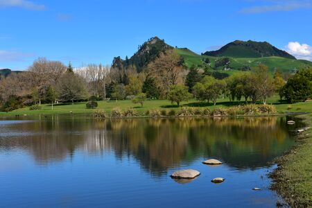 Scenic Waikato River at Whakamaru in New Zealand