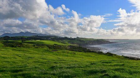 Back Beach & Paritutu Centennial Park in New Plymouth, New Zealand Stock Photo